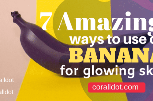 use of banana for glowing skin